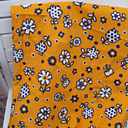 60's Neon Flower Power Fabric