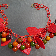 Celluloid & Bakelite Cha Cha Necklace