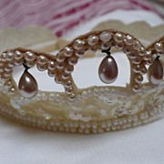 Faux Pearl Sequin Bridal Head Piece