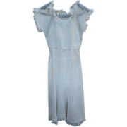 1940's Sheer Eyelet Dress
