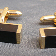 Vintage Swank Onyx Cufflinks