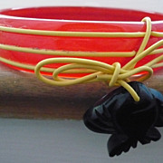 Bakelite Dangling Fish Bracelet