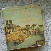 Paris in the Past, Hardcover Book with 70 Tipped In Color Plates, Sweden,1957