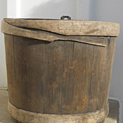 Primitive Maple Sugar Keeler, Wooden White Pine, 1800s, Fabulous Antique