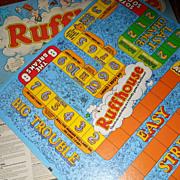 VINTAGE 1980 Ruffhouse Family Board Game Rough Ruff VGC