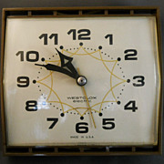 VINTAGE 1950s Westclox Electric Kitchen Clock, Works Great, Very Nice Condition!