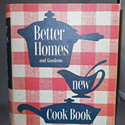 Vintage 5 Ring Hardcover Cookbook, Better Homes and Gardens New Cook Book, 1953