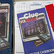 VINTAGE Clue VCR Mystery Game, Parker Brothers Dated 1985 VHS Good Condition, 2 Packages of ..