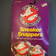 VINTAGE The Real Ghostbusters Sneaker Snappers, Shoelace Covers, NIP, SEALED!