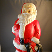 "VINTAGE 14"" Blow Mold Santa Claus by Empire Plastic Company 1968"