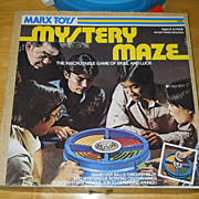 VINTAGE Mystery Maze, The Inscrutable Game of Skill and Luck, Marx Toys, 1976, IOB
