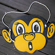 VINTAGE Monkey Mask, Restaurant Toy for Children, Chimp Mask, Paper Ephemera