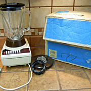 VINTAGE 14 Speed Hamilton Beach Blender in Original Box, New Old Stock, NOS, Harvest Gold
