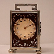English Silver Carriage Clock, London 1924, Goldsmiths & Silversmiths Co