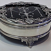 Fine Antique Silver and faux tortoiseshell Box, London 1910, Mappin & Webb.
