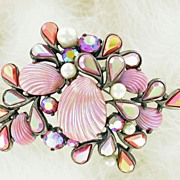 SALE Rare Signed Elsi Schiaparelli Sea Shell Pin