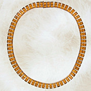 Art Deco Citrine Rhinestone Necklace