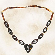 Victorian Tortoise shell Necklace