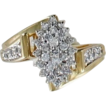 10kt Gold Diamond Cluster Ladies Ring