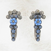 Outstanding Enamel & Marcasite Dress Clips