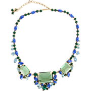 Alice Caviness Huge Blue n Green Necklace