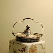 C:1900 Pairpoint Mt Washington Crown Milano Biscuit Jar