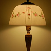 Pairpoint Lamp with Hand-painted shade - Both Base & shade are signed