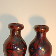 Pair Cypriote glass vases Tiffany Corona