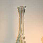 Dominick Labino tall studio glass vase signed C:1969