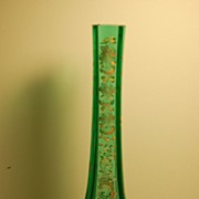 C:1900 Tall Bohemian Moser Glass Vase