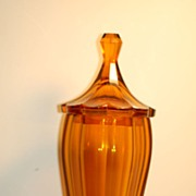 C;1920 Signed Wiener Werkstatte Hoffmann glass Pokal / Covered vase by Moser