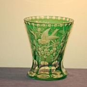 Moser Thomas Webb glass vase museum ex-display piece