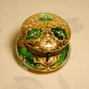 C:1885 Ornate Moser Bohemian jeweled glass box