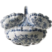 Large Triple Sectional Serving Dish - Blue Onion, Czechoslovakia