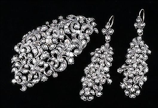 Rare 18th Century Georgian Diamond Set Demi Parure - Austrian