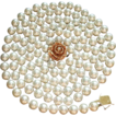 Gorgeous 50&quot; Strand 8 - 8.5mm Cultured Pearls, Custom 14K Diamond Clasp, Circa 1950 ESTATE