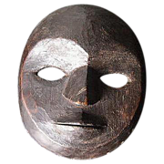 Tribally Used Lega Mask.  Kivu, Zaire