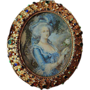 "Exceptional ""Gem"" Set Casket with Ivory Painted Portrait,  Ormolu - Circa 1900"