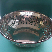 Pretty Sterling Silver Sweet Meat Bowl, Circa 1922