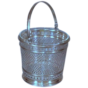 Beautiful Sterling Silver Cased Ice Bucket - Early 20th