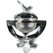 Fabulous Dolphins Lalique Caviar Bowl on Stand
