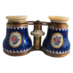 Enameled & Raised Gilt Opera Glasses - 19th C, FRANCE