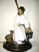 Vintage Chinese Mudman  Figural Lamp
