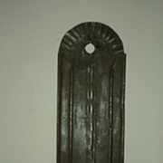 Tall Tin Wall Candle Sconce with Decoration