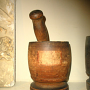 Early 19th C Mortar and Pestle