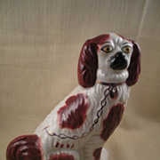 Old Staffordshire Brown & White Spaniel Mantle Dog