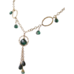 Emerald Green Carved Hydrothermal Quartz Briolette 14Kt Gold Fill Necklace