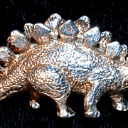 Sterling Dinosaur  Pendent Brooch/Pin - signed GORHAM STERLING