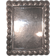 Large 1930s AZTEC ROSE Sterling Silver Tray - Sandborns Mexico
