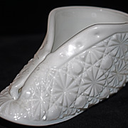 Olde Virginia Milk Glass Shoe/Bootee - Daisy & Button